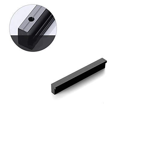 Ln Küchentürgriffe Schwarz Kabinett-Fach-Pens Aluminium 96mm-544mm gerader Griff Badezimmer Knob Möbelbeschläge (Size : 96 MM)