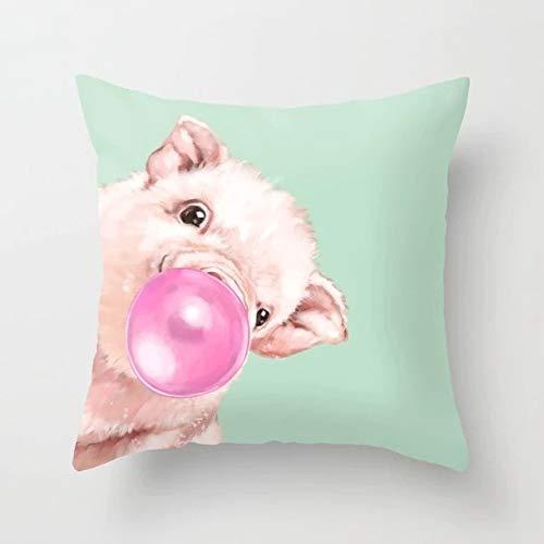 Cartoon Animal Pillow Cover Cushion Cover Home Decoration Giraffe Sofa Car Waist 45cm x 45cm Cartoon Animal 204