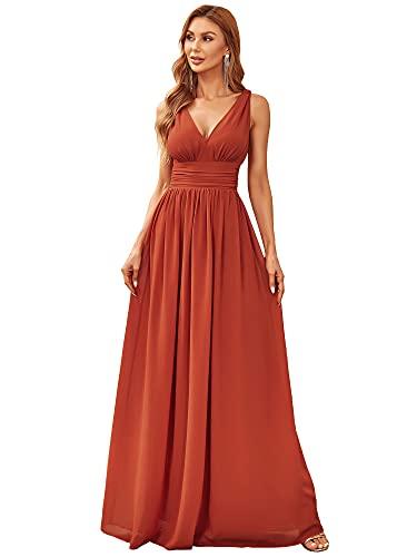 Ever-Pretty Vestito da Cerimonia Donna Linea ad A Stile Impero Chiffon...