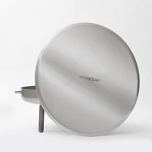 Czaja Stanzteile Deckel für alle Feuerschalen ; einfaches Ablöschen der Feuerschale ohne Wasser und zum Schutz vor Regen (Edelstahl, Ø 80 cm)