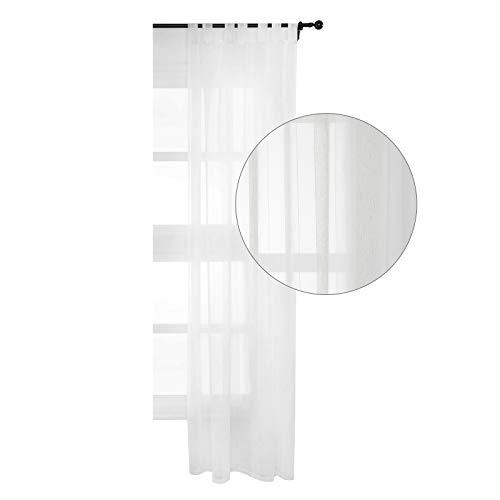cortinas blancas para salon lino semitraslucida