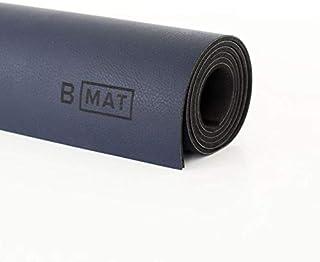 B YOGA Luxe 4mm B Mat, Vegan Leather Finish High Performance Optimal Grip Non Slip OEKOTex Certified - for Yoga, Pilates, ...