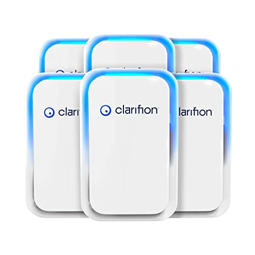 Clarifion - Negative Ion Generator with Highest Output (6 Pack) Filterless Mobile Ionizer Travel Air Purifier, Plug in, Eliminates: Pollutants, Allergens, Germs, Smoke, Bacteria, Pet Dander & More
