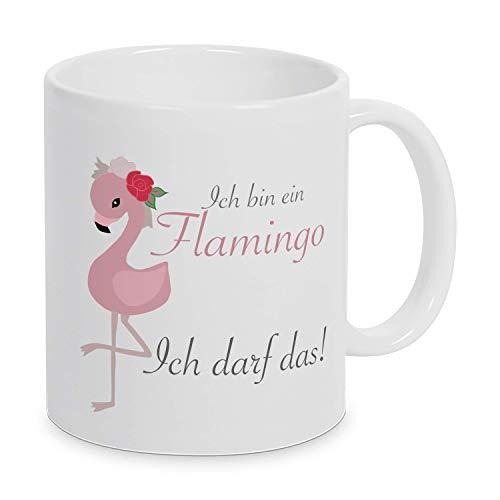 TassenKing® Ich bin ein Flamingo. Ich darf das! Tasse, Kaffeetasse mit Motiv, Tasse mit Spruch, Geschenk
