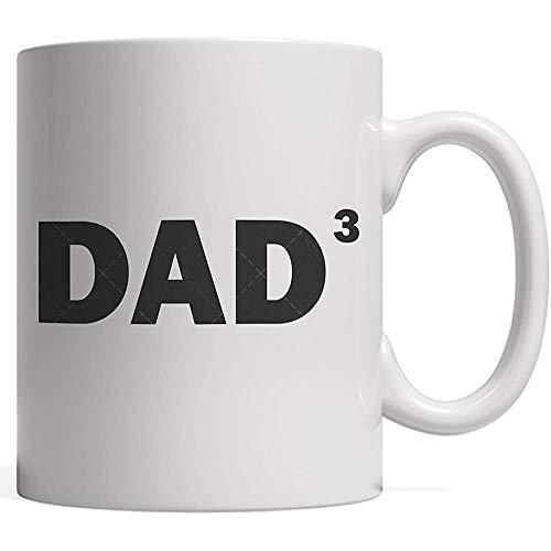 Papà 3 significa cubo ho tre figli - regalo per la festa del papà per il padre orgoglioso e meraviglioso Tre figlie o figli mostrati in una tazza di famiglia divertente