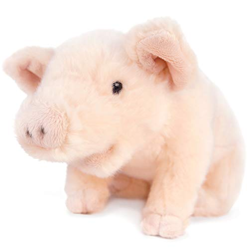 Perla The Pig - 10 Inch Stuffed Animal Plush Piglet - by Tiger Tale Toys