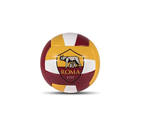 Mondo Sport - Pallone da Volley A.S. Roma - size 5 pallavolo - 270 g - Colore: giallo/rosso/bianco - 13727