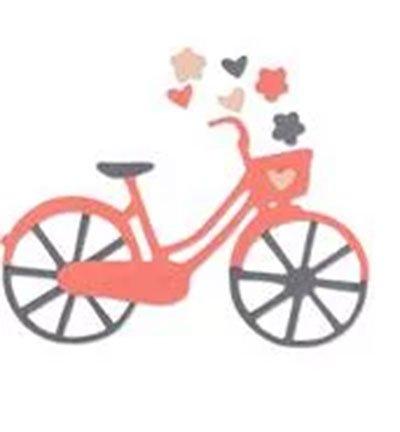 Stanzschablone - Sizzix - Fahrrad