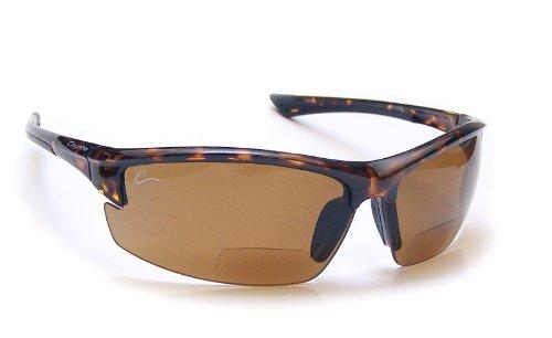 Coyote Eyewear Polarized Reader Sunglasses, Tortoise, Copper +2.50 Power