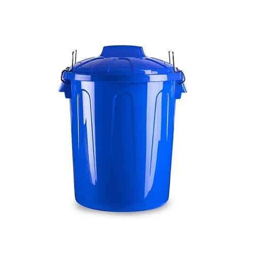 CABLEPELADO Cubo Basura plastico Comunidad con Tapa 21 litros Azul