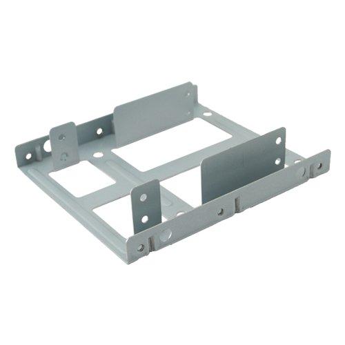 Kingwin Kit de montagem de disco rígido SSD interno,converte qualquer unidade de estado sólido de 2 x 2,5 polegadas em um compartimento de disco de 3,5 polegadas