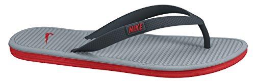 Nike Men's Solarsoft Thong 2 Classic Charcl/Challenge Red-Dove Grey Flip-Flops-7 UK (41 EU) (8 US) (488160-069)