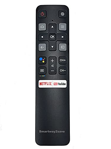 New RC802V Voice Command Smart Remote Compatible for Android 4K UHD TCL Smart Televisions.