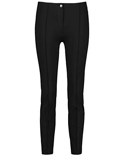 Gerry Weber Damen 7/8 Hose Edition de Luxe Slim Fit schlanke Passform Schwarz 46