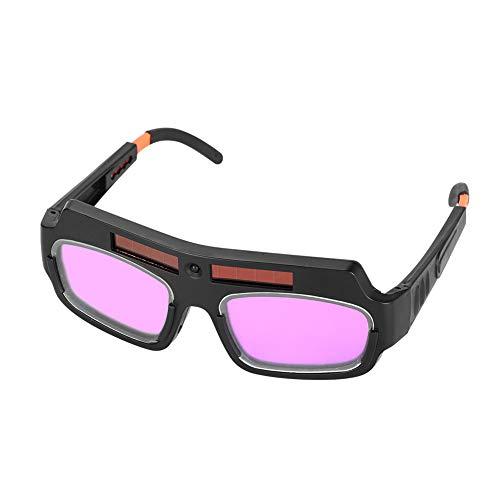 Ejoyous 1 par de anteojos de Soldadura con Pantalla LCD Solar y Cuerda, antideslumbrantes, protección de Seguridad para Gafas de Soldador con Pantalla Ajustable, máscara para Ojos