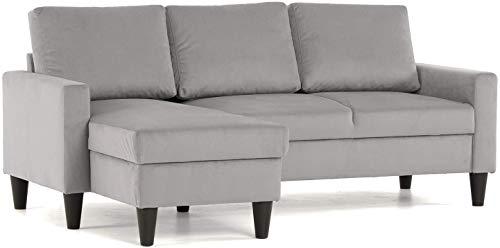Wildlead Die eckige graue Liegesofahalterung 200 x 80 x 85 cm kann umgekehrt Werden (Light Grey)