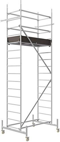 ALTEC Rollfix® 1.0 500 | 5m AH | Rollen (Ø125mm) | Standardtraverse | Made in Germany | TÜV&GS | belastbar 200kg/m² | Alu Arbeitsgerüst | Baugerüst | Fahrgerüst