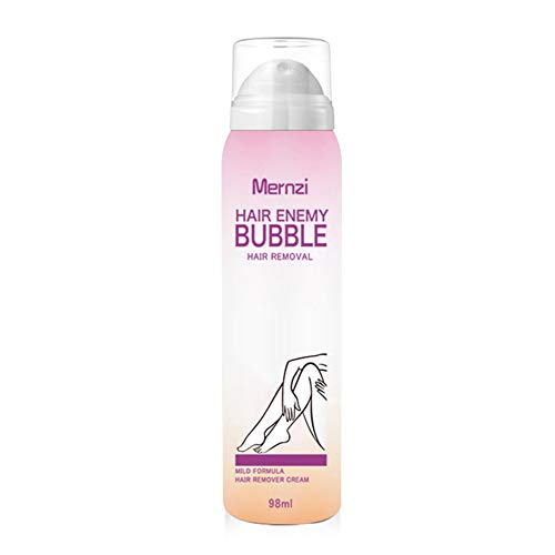 Allbestaye Schmerzlos Bubble Haarentfernung Creme Schaum Sprühen Natürlich Körper Enthaarungsmittel Mousse