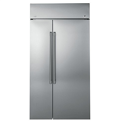 Price comparison product image GE CSB48WSKSS Cafe 29.6 Cu. Ft. Stainless Steel Side-By-Side Refrigerator
