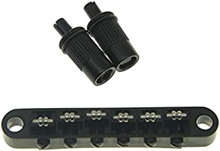 KAISH Black Guitar Roller Saddle Bridge Tune-O-Matic Bridge For Epiphone Les Paul,SG,Dot,Bigsby Guitar with M8 Threaded Posts