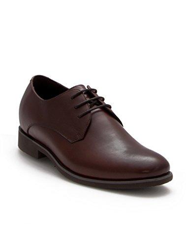 Zerimar Zapatos con Alzas Hombre  Zapatos de Hombre con Alzas Que Aumentan su Altura + 6,5 cm Zapatos con Alzas para Hombres   Zapatos Hombre Vestir… (41, Marron)