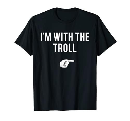 Disfraz de Halloween con el Troll para parejas divertidas Camiseta