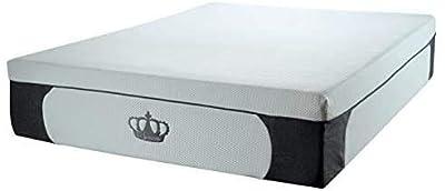 DynastyMattress New! 14.5-Inch CoolBreeze Plush Gel Memory Foam Mattress with Pillows (Queen)