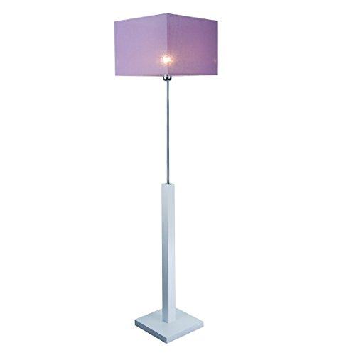 Stehlampe, Stehleuchte - HausLeuchten - LP3LID - WEIß - Massivholz, Deckenfluter, Standleuchte (LILA)