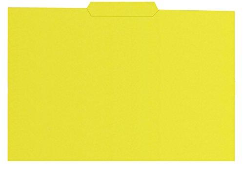 Elba Gio - Pack de 50 subcarpetas con pestaña central, color amarillo