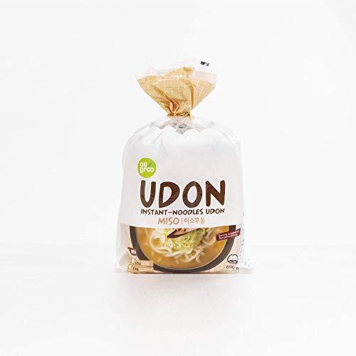 Allgroo Udon Instantnudeln - Miso, Udon Suppe würzig, aromatisch, schnelle Zubereitung - enthält 3 Portionen - 1 x 690 g