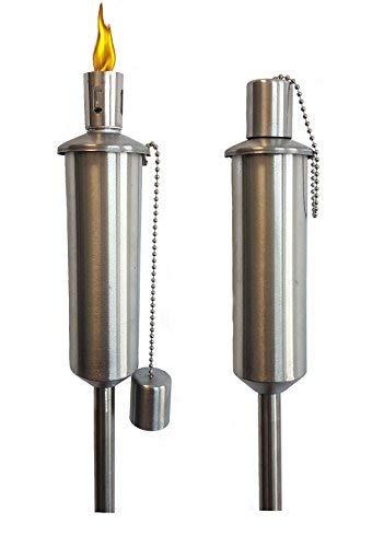 Acero inoxidable Antorcha de jardín – 2 variantes – Lámpara de aceite inoxidables: Amazon.es: Jardín