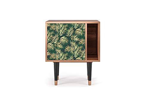 Furny - S2 - aparador, diseños Impresos UV, Estilo Tropical, 1 Puerta con Apertura y Espacio al Lado, 57.5W x 48D x 69H - Sunny Palm Tree
