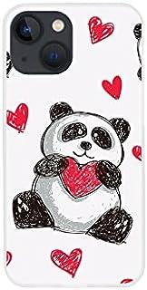 Etui na Apple iPhone 13 Mini - etui na telefon Fantastic Case - panda z sercem - guma case obudowa silikonowa wzory