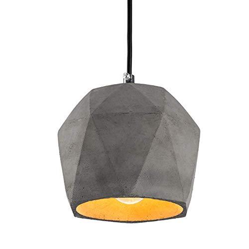 Xiao Fan E27 Retro hanglamp, vintage, dimbaar, plafondlamp, beton, woonkamer, bar, Corridoio Cafe hanglamp (design: 2)