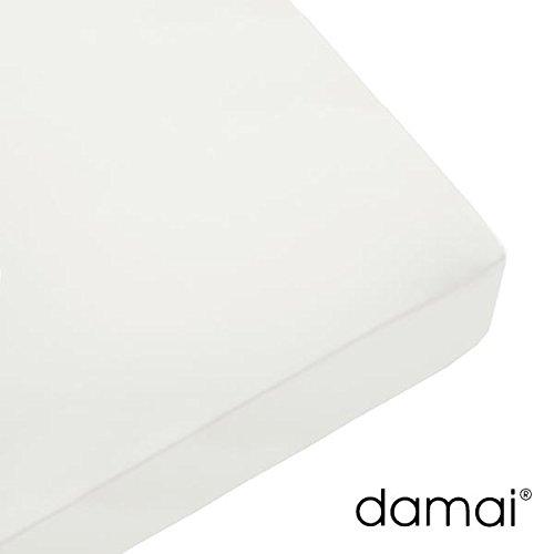 Damai Damai Nightkiss Topper hoeslaken wit - 9-15cm met elastiek - 160 x 210 cm 100% katoen