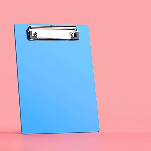 MEYYY Portapapeles de plástico, paquete de 10 unidades de clip de tamaño de letra colgante de bajo perfil colorido portapapeles suministros de oficina duradero fuerte, tamaño A5 15 x 22,5 cm