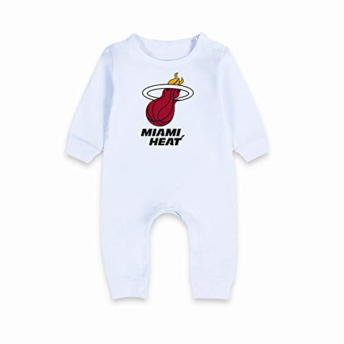 ZGRNB Deportes NBA Fan Baby Creepers Rompers Camiseta de Baloncesto San Antonio Spurs Washington Wizards Atlanta Hawk Miami Heat Cleveland Cavaliers Jumpsuit Cardigan Altura 59 cm-90 cm