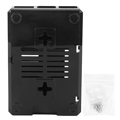 Carcasa Protectora esmerilada Tipo D, Carcasa Colgante Profesional ABS con Tornillos, Adecuada para Raspberry Pi 3B / 3B +(Negro)