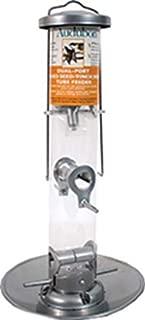 Woodlink NASIL Audubon Silver Tube Wild Bird Feeder with Tray, 16.5-Inch