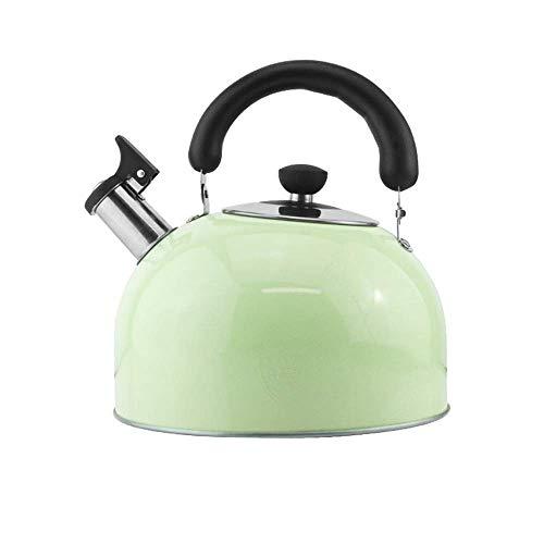 SGSG CWC Whistling Candy Tea Kettle Acero Inoxidable StoveTop Tetera Cocina de inducción de Gas Universal, Hervidor (Verde) (Color: Azul, Tamaño: 4L)