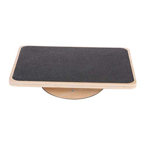 LIOOBO Holz Balance Board Rocker Board Anti-Rutsch rechteckigen Holz stehend Schreibtisch Wobble Board Balance-Platte für Home Office
