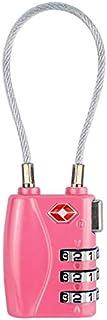 JinEamy In lega di zinco 3 cifre password TSA blocco da viaggio bagagli lucchetto (Color : Pink)