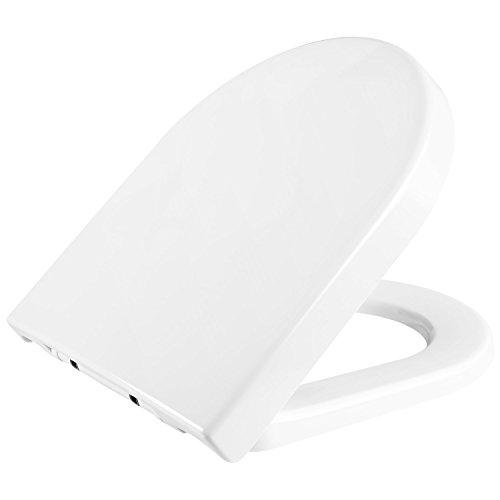 HOMFA Tapa WC Universal Asiento y Tapa diseño con amortiguado Tapa para inodoro Blanco