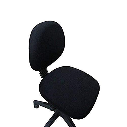fittoway Elastischer Universal-Computerschreibtischstuhl-Bezug, drehbar, einfarbiger Stuhl-Bezug schwarz