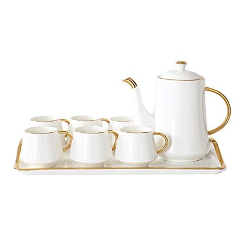 FGDSA Ceramic Coffee Tea Set Gift Box Phnom Penh White Coffee Pot Cup Tray Set Home Afternoon Tea Set Water Set Gift tea set