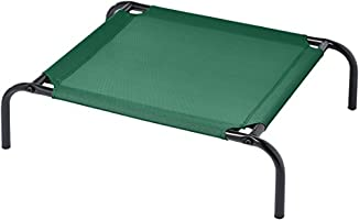 AmazonBasics Extra Small Elevated Cooling Pet Dog Cot Bed - 28 x 21 x 7 Inches, Green
