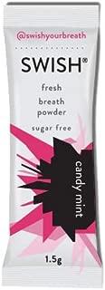 SWISH Fresh Breath Powder, Candy Mint, 30 Sticks (10 Envelopes) | Get On-The-Go Mouthwash Freshness | Sugar Free | 100% Xylitol | Natural Flavors | Gluten-Free | Vegan | Keto-Friendly
