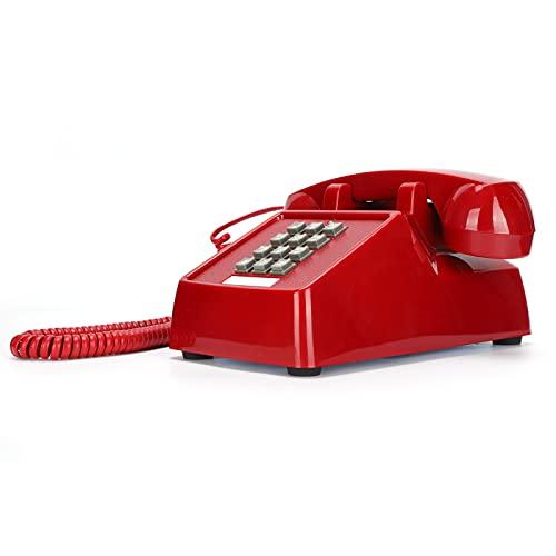 有線電話、聴覚障害者用コード付きレトロ電話電話ホームホテル会社の固定電話スーパーリンギング