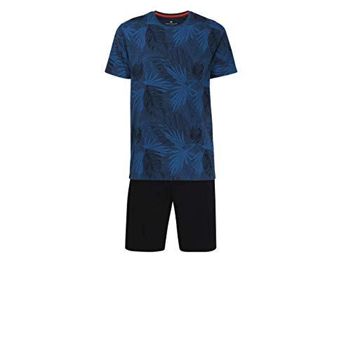 TOM TAILOR Underwear Pyjama mit gemustertem Shirt Blue-Dark-Allover, 50/M