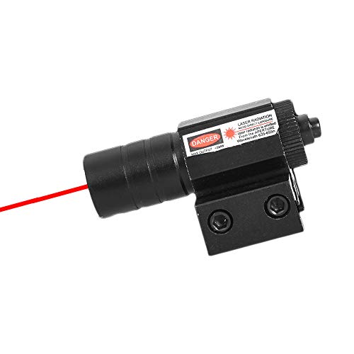 Ddartsgo Gamma 50-100M 635-655nm Punto Rosso Laser Sight Regolabile 11mm 20mm Picatinny Accessorio per Caccia su rotaie per Fucili ad Aria compressa